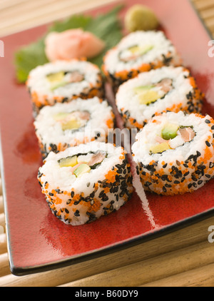 Inside-out Sushi Rolls - Stock Photo
