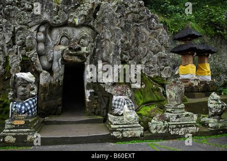Entrance of the Elephant Cave Goa Gajah, Ubud, Bali, Indonesia, Southeast Asia - Stock Photo