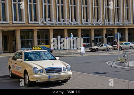 Entrance to Tempelhof Airport, Berlin - Stock Photo