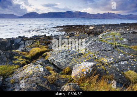 Loch Linnhe from north of Appin, Scotland, UK - Stock Photo