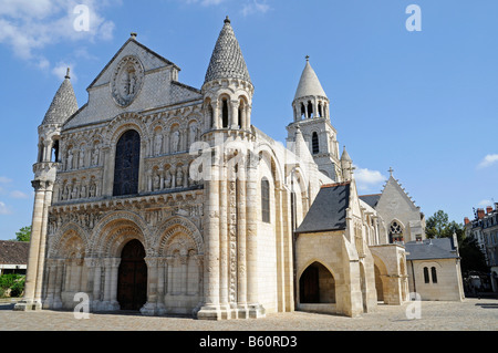 Church, cathedral, Notre Dame la Grande, Poitiers, Poitou Charentes, France, Europe - Stock Photo