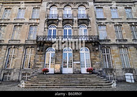 Entrance, facade, Musee des Beaux Arts, museum of fine arts, Arras, Nord Pas de Calais, France, Europe - Stock Photo