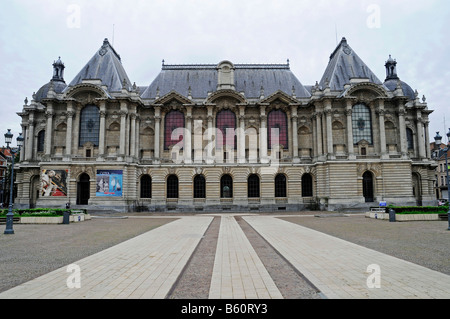 Square, Place de la Republique, Palais des Beaux Arts, museum of fine art, Lille, Nord Pas de Calais, France, Europe - Stock Photo