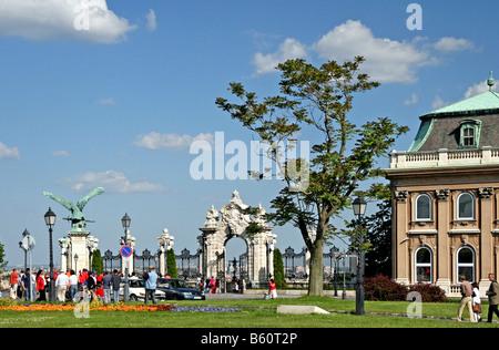 Main entrance gate, Buda Castle, Budapest, Hungary, Europe - Stock Photo