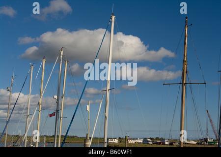 Sailing Yacht Masts - Stock Photo
