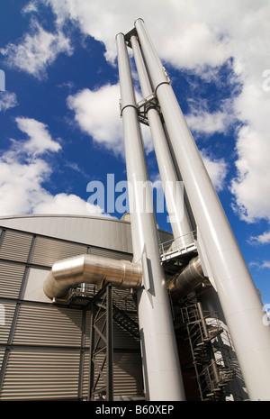 HafenCity heating power station from the company Vattenfall, HafenCity, Hamburg - Stock Photo