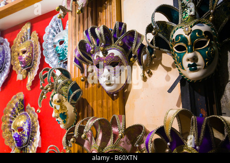 Venetian masks, Venice, Veneto, Italy, Europe - Stock Photo