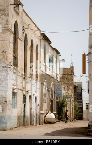 Historic centre of Massawa, Red Sea, Eritrea, Horn of Africa, East Africa - Stock Photo