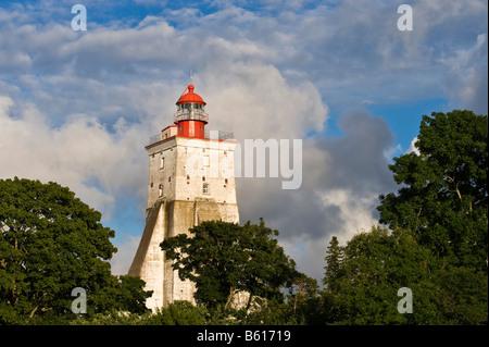 Lighthouse, Kopu, 'the fat lady of Hiiumaa', Hiiumaa, Baltic Sea island, Estonia, Baltic States, Northeast Europe - Stock Photo