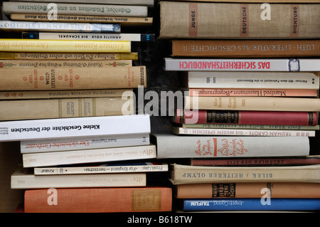 Piles of old or antique books - Stock Photo
