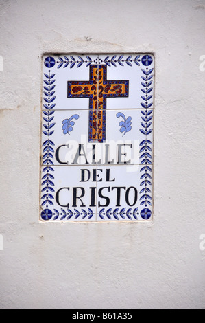 street marker for calle del cristo in old san juan, puerto rico - Stock Photo
