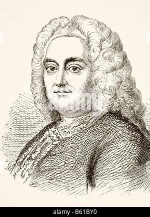 George Frideric Handel 1685 to 1759 German born English composer of the late Baroque era - Stock Photo