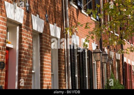 Federal architecture Old Town Alexandria Virginia - Stock Photo