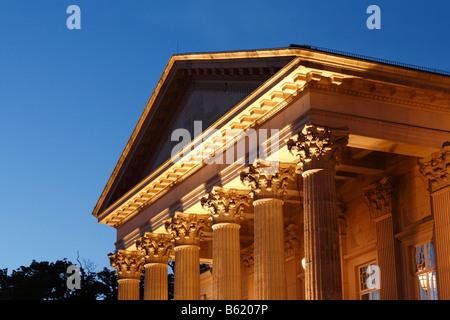 Meininger Theatre, Meiningen, Rhoen, Thuringia, Gerrmany, Europe - Stock Photo