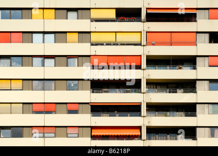 Facade of a multistory building - Stock Photo