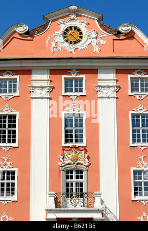 Neues Schloss Castle, Meersburg, Bodensee district, Baden-Wuerttemberg, Germany, Europe - Stock Photo