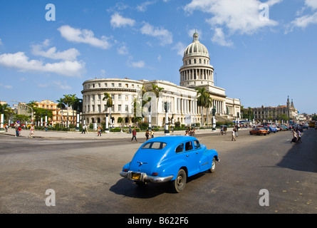El Capitolio, National Capitol Building, on Capitol square, Cuba, Caribbean - Stock Photo