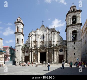 La Catedral, Cathedral of Saint Christopher of Havana, Cuba, Caribbean - Stock Photo