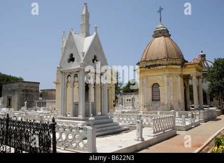 Cementerio Cristóbal Colón, Colon Cemetery in Havana, Cuba, Caribbean - Stock Photo