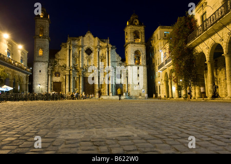 La Catedral, evening mood, Cuba, Caribbean - Stock Photo