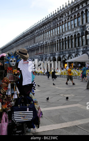 Sales booth, Piazza San Marco Square, Venice, Italy, Europe - Stock Photo