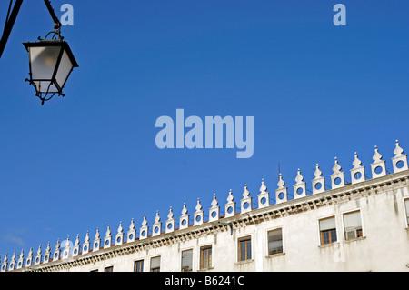 Palazzo on the Rialto Bridge, Venice, Italy, Europe - Stock Photo