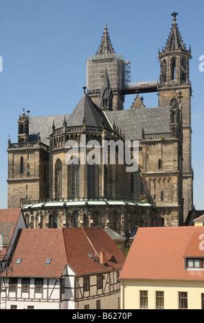 Saint Mauritius Saint Katharina Cathedral, Magdeburg, Saxony-Anhalt, Germany, Europe - Stock Photo
