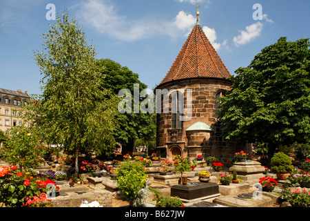 Johannis graveyard, St. Johannis area, Nuremberg, Middle Franconia, Bavaria, Germany, Europe - Stock Photo