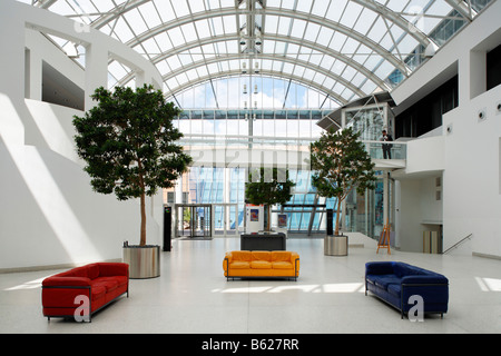 Germanisches Nationalmuseum, entrance hall, Kartaeusergasse 1, Nuremberg, Middle Franconia, Bavaria, Germany, Europe - Stock Photo