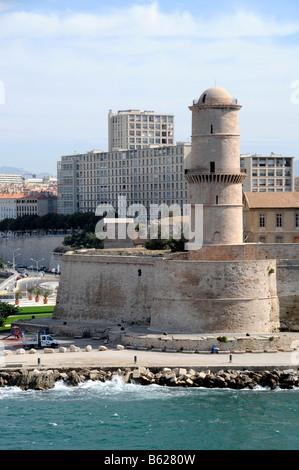 Marseille saint jean fortress stock photo royalty free for Le jardin marseille