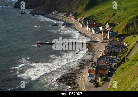 Crovie fishing village on the Scottish North Coast, Scotland, United Kingdom, Europe - Stock Photo