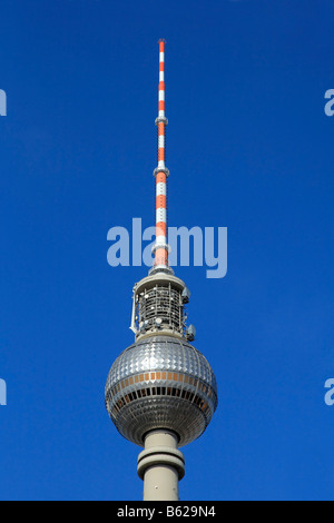 Television tower of Berlin, Alex, Alexanderplatz Square, Berlin-Mitte district, Berlin, Germany, Europe - Stock Photo