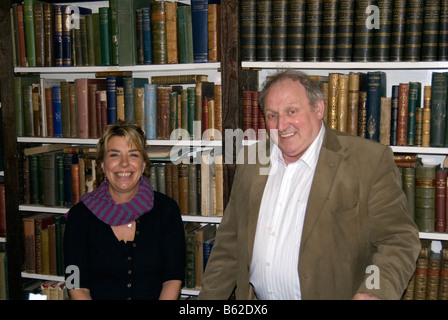Booksellers at Hay-on-Wye, Wales, UK - Stock Photo