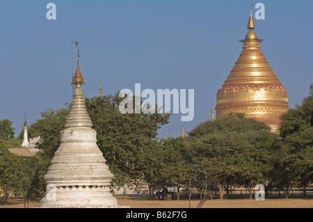 Golden Stupa of the Shwezigon Pagoda - Stock Photo