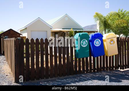 Recycling at Rosh Pinar - Stock Photo