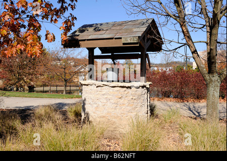 Old Well at Longaberger s Homestead Central Ohio Zanesville Frazeysburg U S - Stock Photo