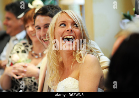 Newly wed couple West Yorkshire Model Released - Stock Photo