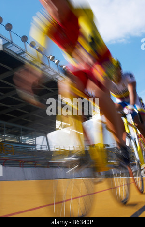 Cyclists participating in a bicycle race - Stock Photo