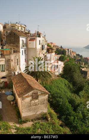 Houses in a town, Vietri sul Mare, Costiera Amalfitana, Salerno, Campania, Italy - Stock Photo