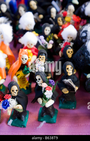 Oaxaca, Mexico. Day of the Dead Celebrations, Altar Decorations, Children's Toys, Toy Skeletons - Stock Photo