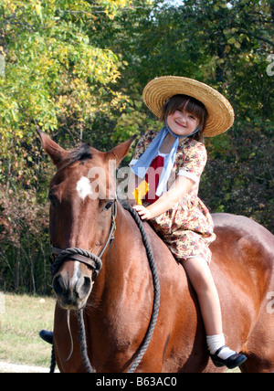 Young Girl Horse Rider With American Flag Cody Nite Rodeo