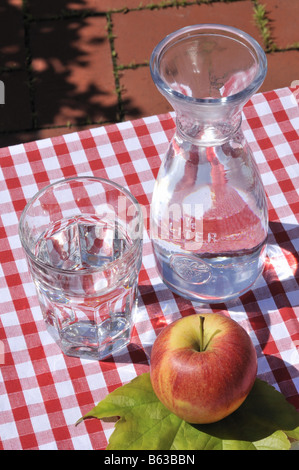 Wasserkrug Bottle of Water - Stock Photo