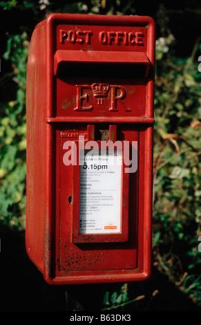 Post Box (Lamp Box variety) - Stock Photo
