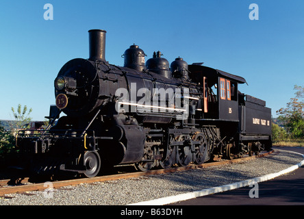 Locomotive at Steamtown National Historic Site, Scranton, Pennsylvania, USA - Stock Photo