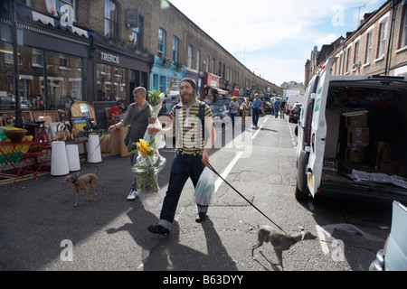 COLUMBIA ROAD FLOWER MARKET - Stock Photo