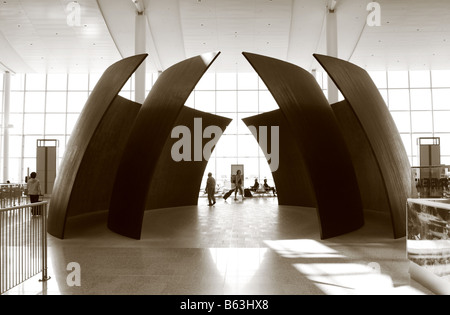 Tilted Spheres in Terminal One in Toronto Pearson International Airport Canada - Stock Photo