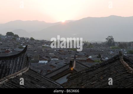 China Yunnan province Lijiang town Unesco World Heritage Site - Stock Photo