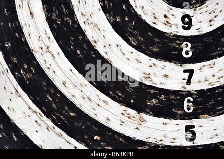 bingo - detail of the target with numeral row - Stock Photo