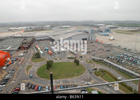 The new terminal building at Luton Airport - Stock Photo