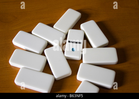 Domino pieces isolated on the table. Vector illustration ...